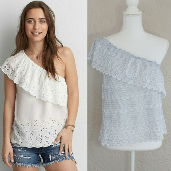 5955909c41ea6 NWT American Eagle Outfitters One Shoulder Top